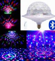 Bluetooth-os E27-es LED UFO party lámpa
