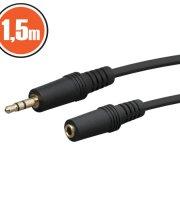 JACK kábel 3.5 JACK dugó - 3.5 JACK aljzat 1,5 m