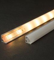 LED aluminium profil takaró búra opál 2000 mm