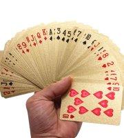Luxus póker kártya pakli Arany bankó