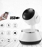 Wifis beltéri megfigyelő rendszer , hangszóróval és mikrofonnal