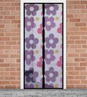 Szúnyogháló függöny ajtóra mágneses 100 x 210 cm színes virágos
