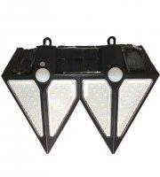 Kültéri napelemes dupla fali lámpa mozgásérzékelővel