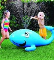 Játék szökőkút felfújható bálna 110cm