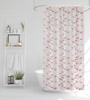 Zuhanyfüggöny - flamingós - 180 x 200 cm