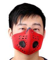 Edzőmaszk, tréning maszk Piros