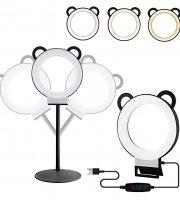 Panda kör alakú LED lámpa, fényerőszabályzóval - többféle színben