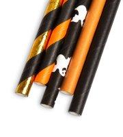 Papír szívószál - Halloween - 197 x 6 mm - 25 db / csomag