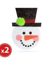 Karácsonyfadísz szett - hóember - 2 db / csomag