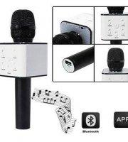 Bluetooth karaoke mikrofon, beépített hangszóróval és szabályzókkal