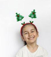 Karácsonyi hajráf - mikulás, karácsonyfa, rénszarvas