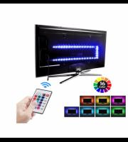 USB RGB háttérvilágítás tv-hez, távirányítóval