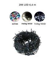 298 LED-es karácsonyfa izzó, különböző színekben