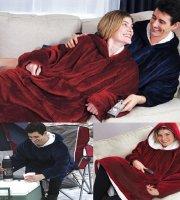 Huggle Hoodie - Pihe puha takaró és pulóver egyeben