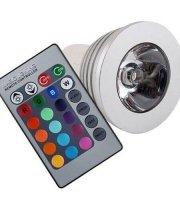 Színváltós LED lámpa távirányítóval