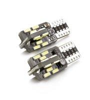Autós LED - CAN128 - T10 (W5W) - 240 lm - can-bus - SMD 3W - 2 db / bliszter