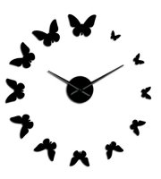 Modern pillangós fali óra
