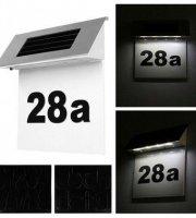 Szolár házszámfény, 4 db LED világítással