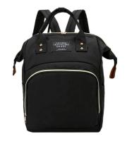 Pelenkázótáska, pelenkázó hátizsák, baba táska Fekete