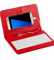 Telefontok billentyűzettel, univerzális telefontok, billentyűzetes mobiltok Vörös